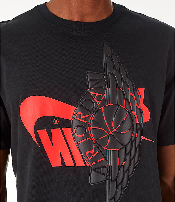 Detail 1 view of Men's Jordan Futura Wings T-Shirt in Black/Infrared