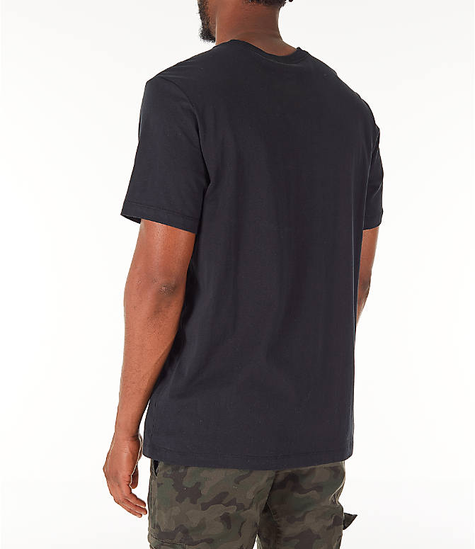 Back Left view of Men's Jordan Futura Wings T-Shirt in Black/Infrared