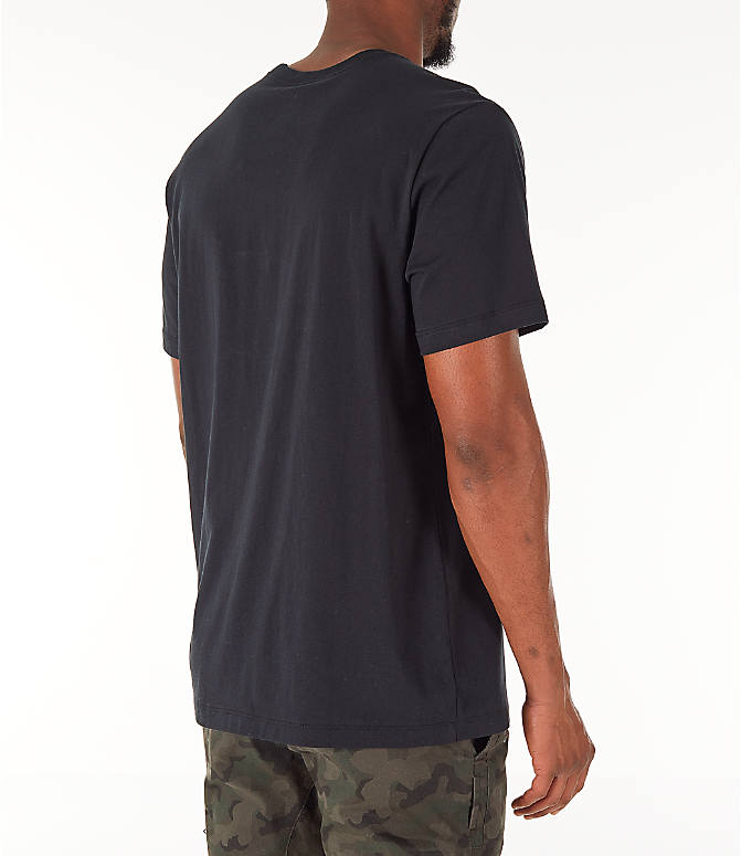 Back Right view of Men's Jordan Futura Wings T-Shirt in Black/Infrared