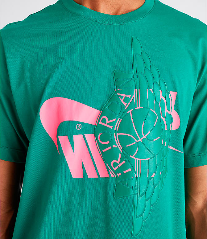 Detail 1 view of Men's Jordan Futura Wings T-Shirt in Mystic Green