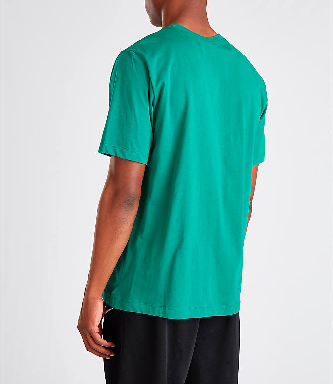 Back Left view of Men's Jordan Futura Wings T-Shirt in Mystic Green
