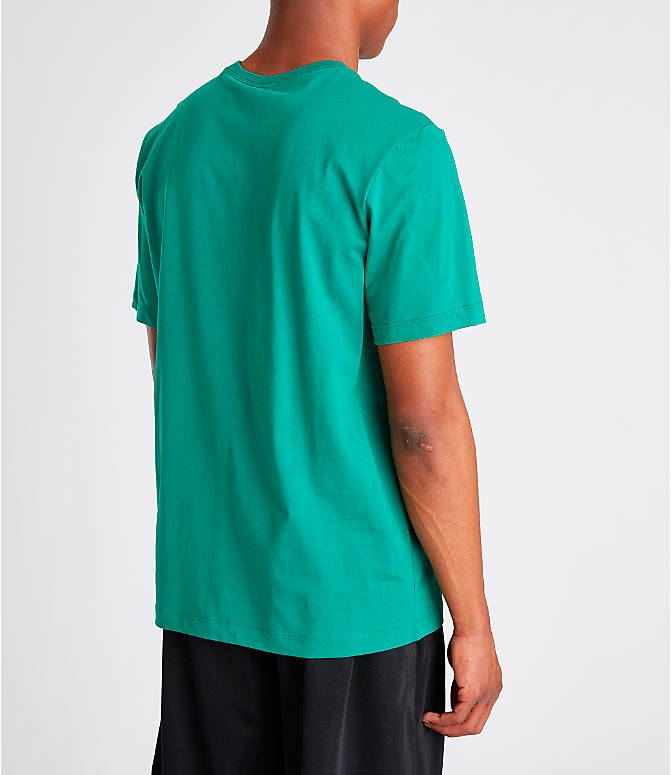 Back Right view of Men's Jordan Futura Wings T-Shirt in Mystic Green