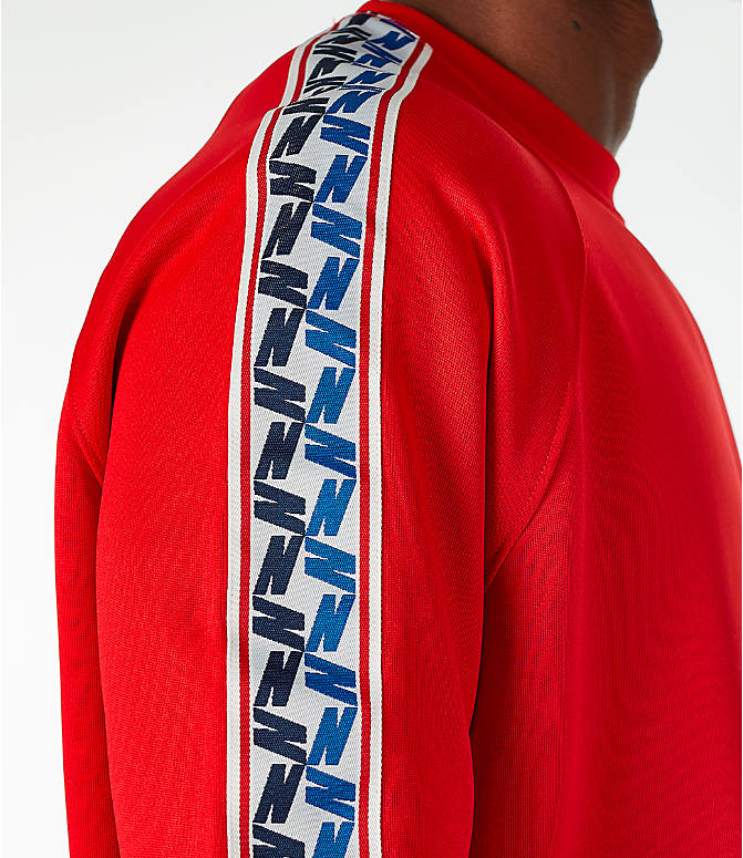 Detail 2 view of Men's Nike Sportswear Taped Short-Sleeve Shirt in Gym Red