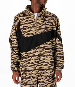 Men's Nike Sportswear Vaporwave Swoosh Woven Half-Zip Jacket