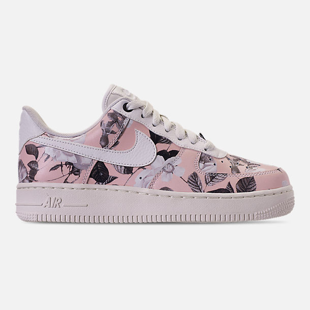Right view of Women's Nike Air Force 1 '07 LXX Casual Shoes in Summit White/Black/Pale Pink