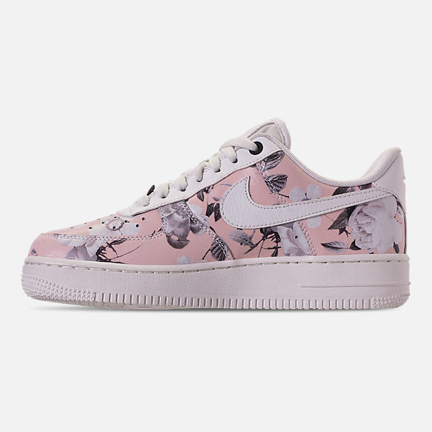 Left view of Women's Nike Air Force 1 '07 LXX Casual Shoes in Summit White/Black/Pale Pink