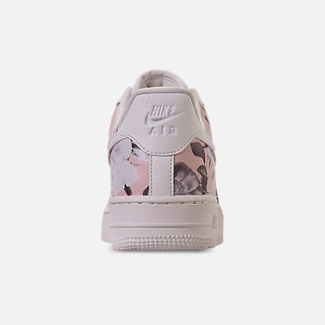Back view of Women's Nike Air Force 1 '07 LXX Casual Shoes in Summit White/Black/Pale Pink