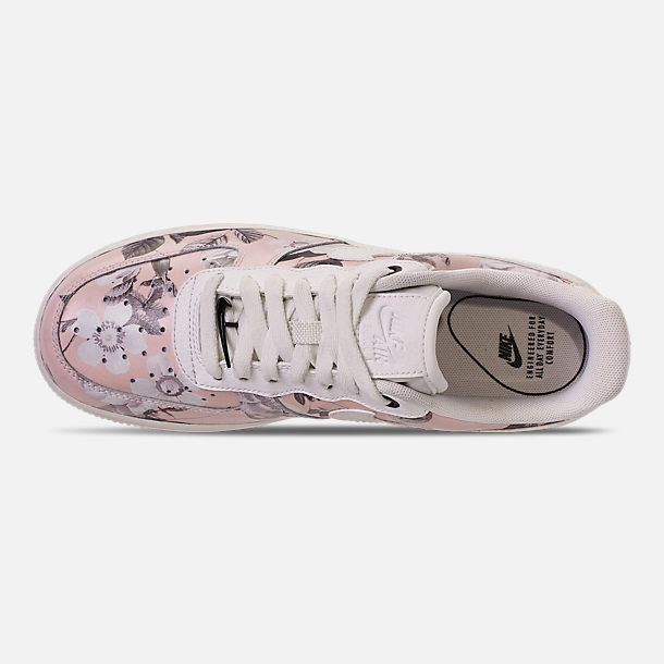 Top view of Women's Nike Air Force 1 '07 LXX Casual Shoes in Summit White/Black/Pale Pink