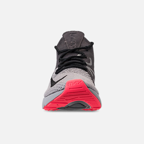 promo code 685f4 2904c Front view of Men s Nike Air Max 270 Flyknit Casual Shoes in Atmosphere  Grey Hyper