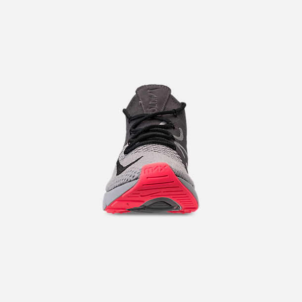 promo code feaaf b2b04 Front view of Men s Nike Air Max 270 Flyknit Casual Shoes in Atmosphere  Grey Hyper