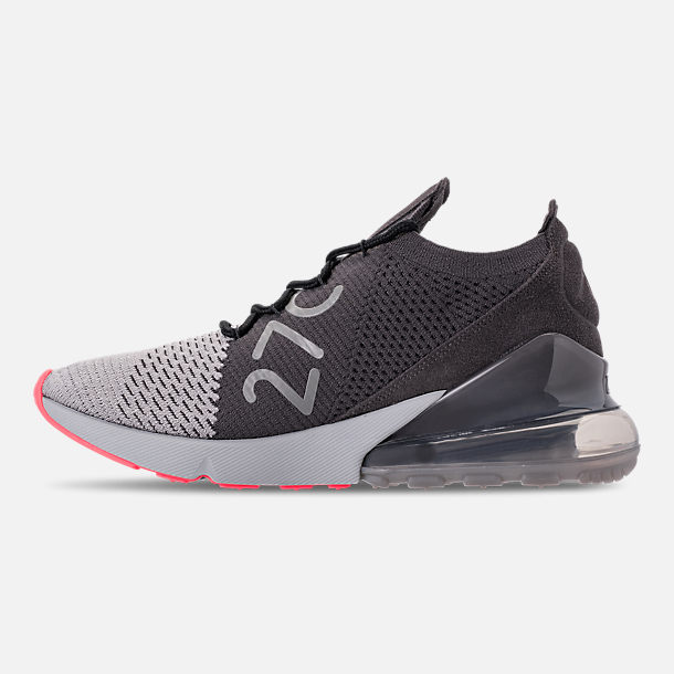 60c9982b602a Left view of Men s Nike Air Max 270 Flyknit Casual Shoes in Atmosphere  Grey Hyper