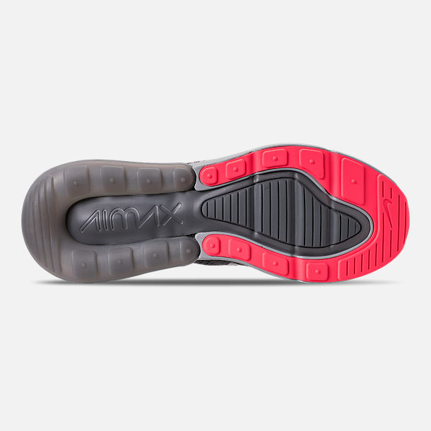 8301e5db284f Bottom view of Men s Nike Air Max 270 Flyknit Casual Shoes in Atmosphere  Grey Hyper