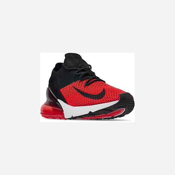 online retailer a3849 fee10 Three Quarter view of Men s Nike Air Max 270 Flyknit Casual Shoes in Chile  Red