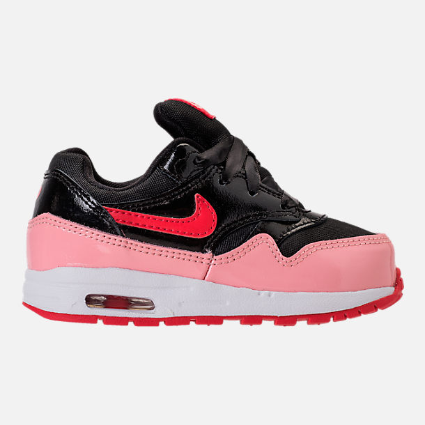 Right view of Girls' Toddler Nike Air Max 1 Heart Casual Shoes in Black/Anthracite/Cool Grey/White