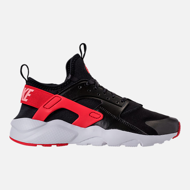 Right view of Girls' Grade School Nike Air Huarache Run Ultra Heart Casual Shoes in Black/Sunblush/Arctic Pink