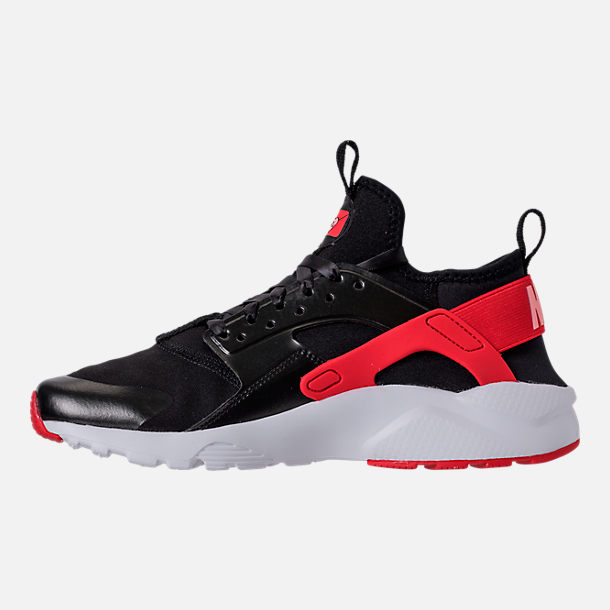 Left view of Girls' Grade School Nike Air Huarache Run Ultra Heart Casual Shoes in Black/Sunblush/Arctic Pink