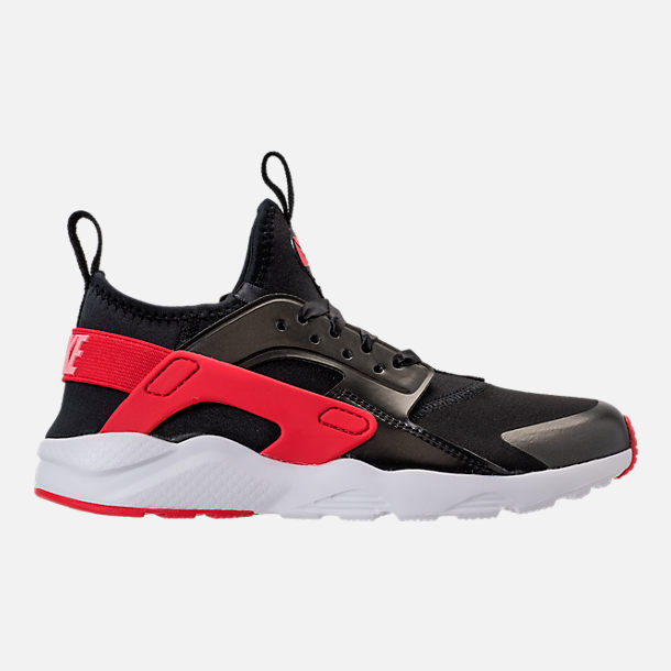 Right view of Girls' Preschool Nike Air Huarache Run Ultra Heart Casual Shoes in Black/Sunblush/Arctic Pink