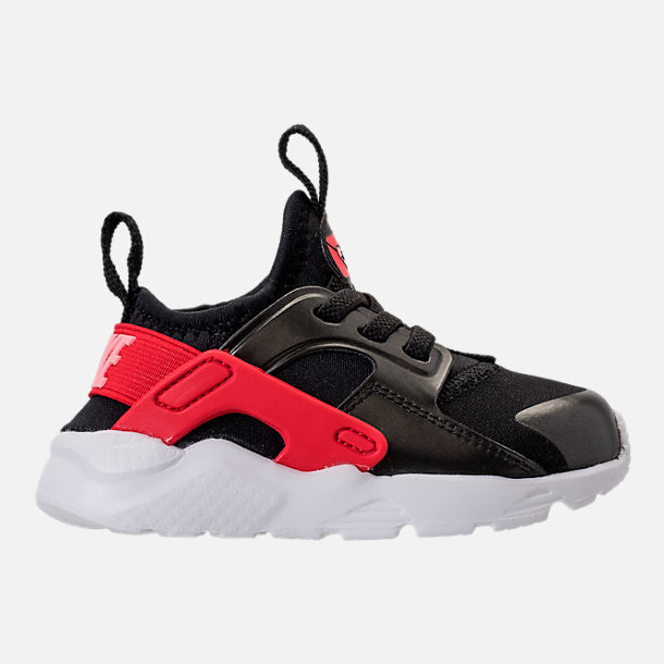 Right view of Girls' Toddler Nike Air Huarache Run Ultra Heart Casual Shoes in Black/Sunblush/Arctic Pink