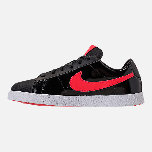 Left view of Girls' Preschool Nike Blazer Heart Casual Shoes in Black/Speed Red/Bleached Coral
