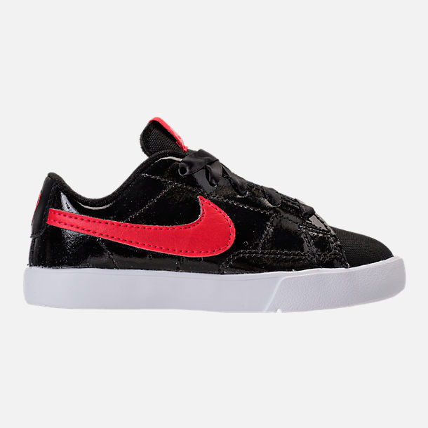 Right view of Girls' Toddler Nike Blazer Heart Casual Shoes in Black/Speed Red/Bleached Coral