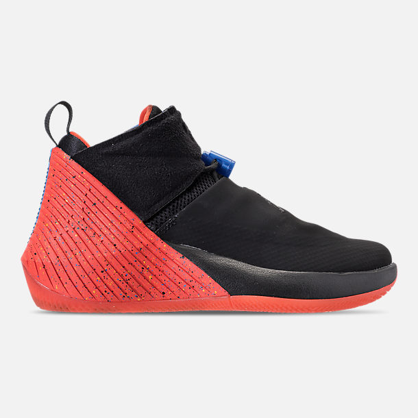 Right view of Big Kids' Air Jordan Why Not Zer0.1 Basketball Shoes in Black/Signal Blue/Team Orange