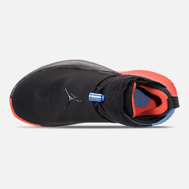 Top view of Big Kids' Air Jordan Why Not Zer0.1 Basketball Shoes in Black/Signal Blue/Team Orange