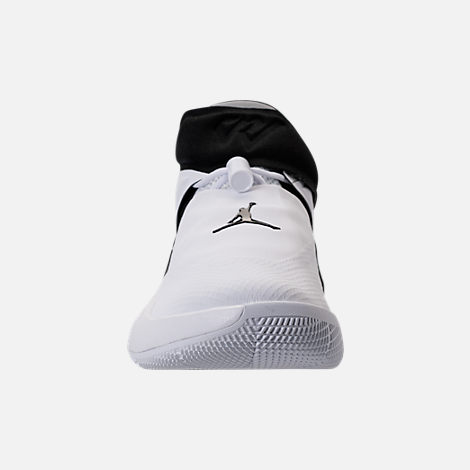 Front view of Kids' Grade School Air Jordan Why Not Zer0.1 Basketball Shoes in White/Black