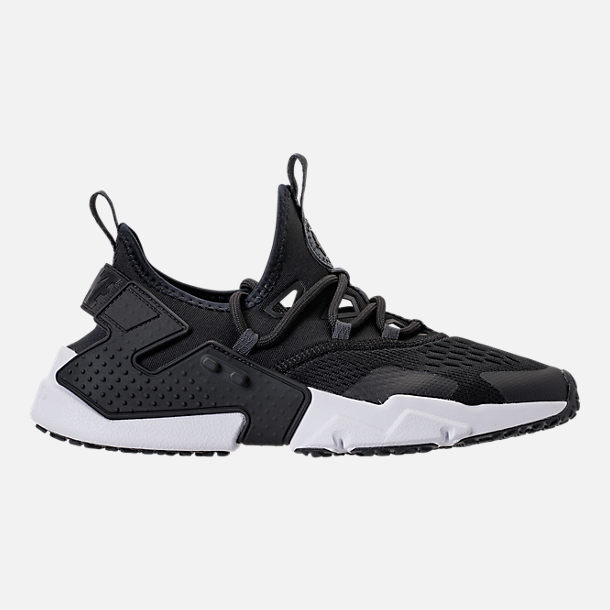 Right view of Men's Nike Air Huarache Drift Breeze Casual Shoes in Black/Anthracite/White