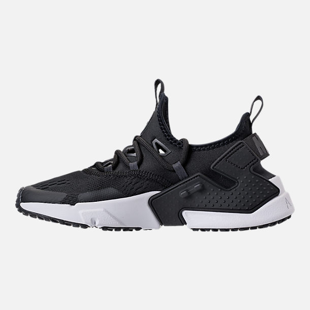 Left view of Men's Nike Air Huarache Drift Breeze Casual Shoes in Black/Anthracite/White