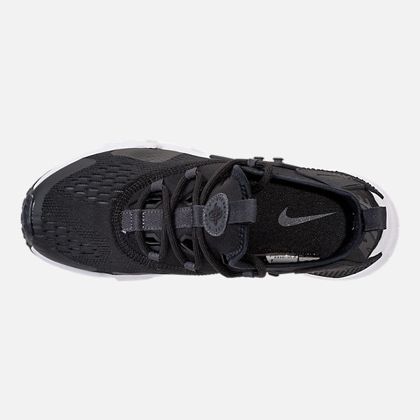 Top view of Men's Nike Air Huarache Drift Breeze Casual Shoes in Black/Anthracite/White