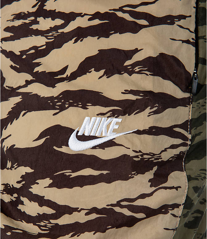 Detail 1 view of Men's Nike Sportswear Vaporwave Shorts in Medium Olive/Black