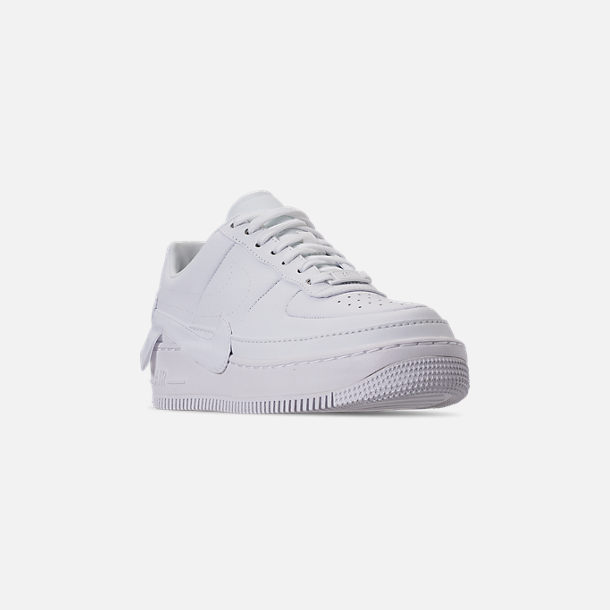 Three Quarter view of Women's Nike Air Force 1 Jester XX Casual Shoes in White