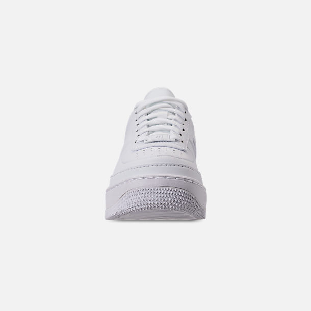 Front view of Women's Nike Air Force 1 Jester XX Casual Shoes in White