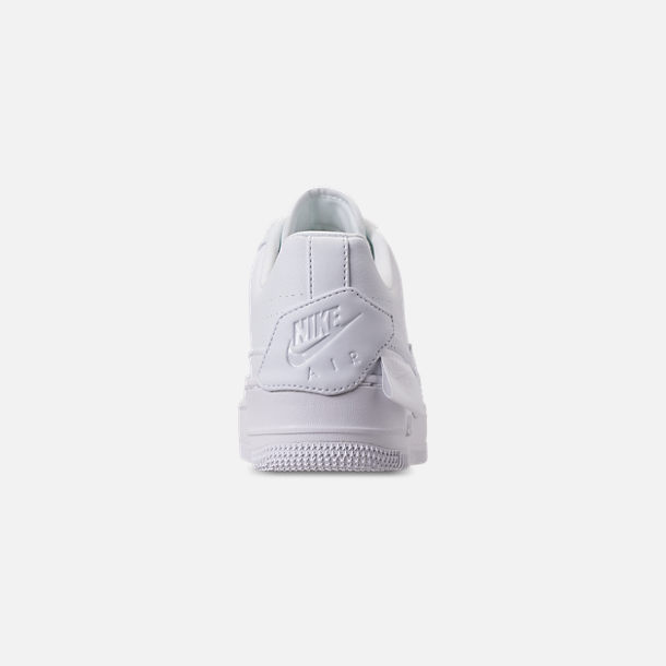 Back view of Women's Nike Air Force 1 Jester XX Casual Shoes in White