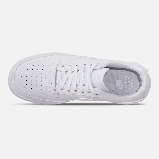 Top view of Women's Nike Air Force 1 Jester XX Casual Shoes in White
