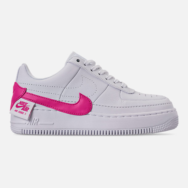 Right view of Women's Nike Air Force 1 Jester XX Casual Shoes in White/Laser Fuchsia