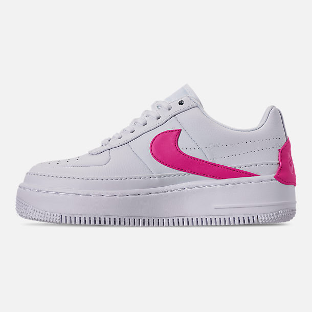 Left view of Women's Nike Air Force 1 Jester XX Casual Shoes in White/Laser Fuchsia