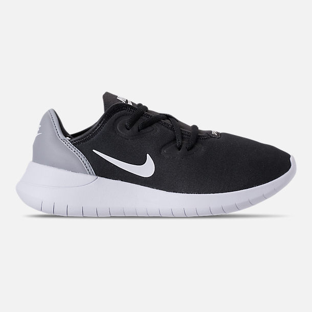 Right view of Boys' Grade School Nike Hakata Casual Shoes in Black/White/Wolf Grey