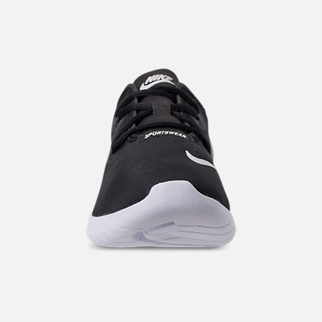 Front view of Boys' Grade School Nike Hakata Casual Shoes in Black/White/Wolf Grey