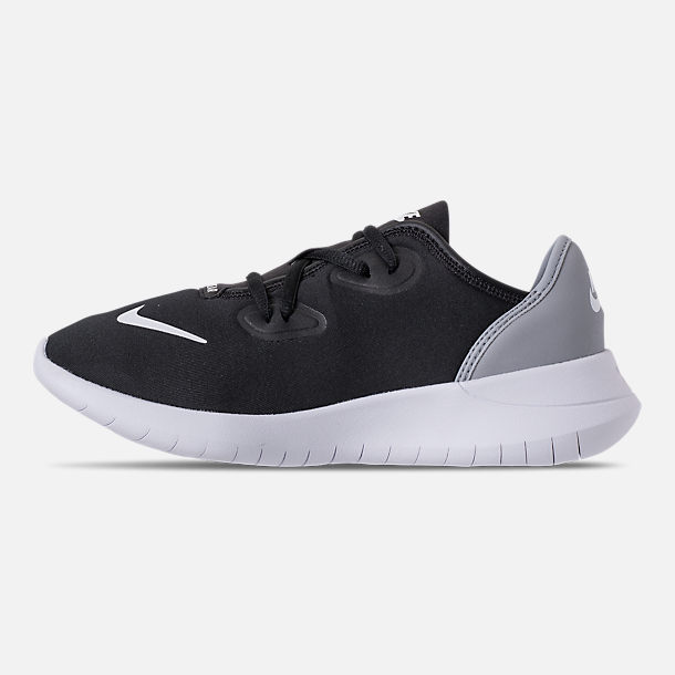 Left view of Boys' Grade School Nike Hakata Casual Shoes in Black/White/Wolf Grey