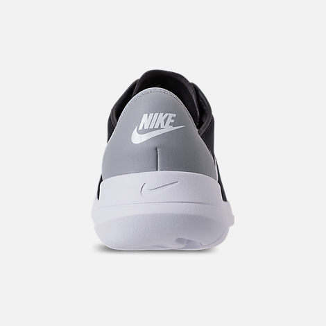 Back view of Boys' Big Kids' Nike Hakata Casual Shoes in Black/White/Wolf Grey