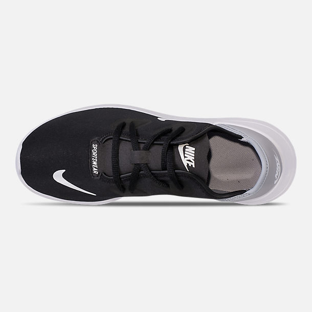 Top view of Boys' Big Kids' Nike Hakata Casual Shoes in Black/White/Wolf Grey