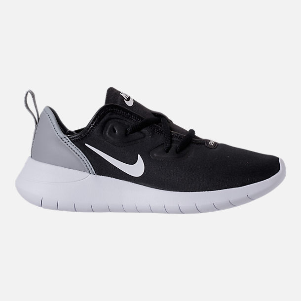Right view of Boys' Preschool Nike Hakata Casual Shoes in Black/White/Wolf Grey