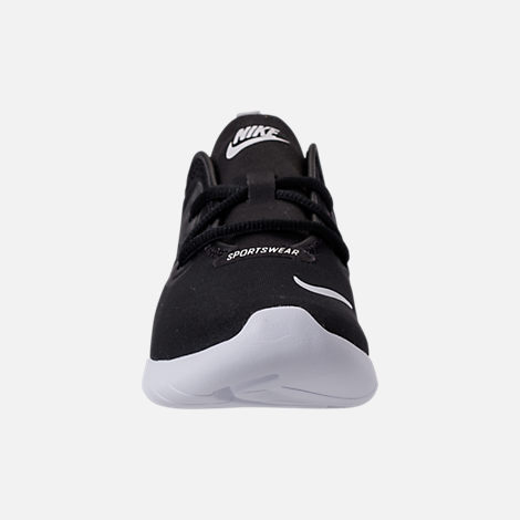 Front view of Boys' Preschool Nike Hakata Casual Shoes in Black/White/Wolf Grey