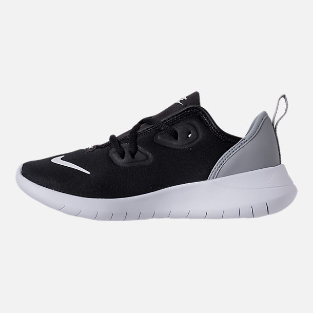 Left view of Boys' Preschool Nike Hakata Casual Shoes in Black/White/Wolf Grey