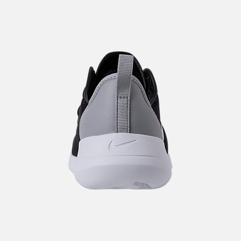 Back view of Boys' Preschool Nike Hakata Casual Shoes in Black/White/Wolf Grey