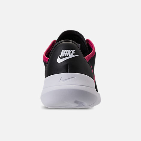 Back view of Girls' Grade School Nike Hakata Casual Shoes in Black/Rush Pink/White