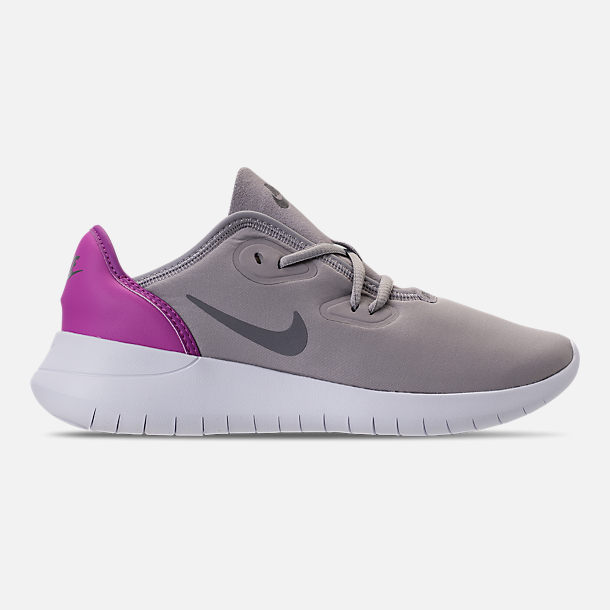 Right view of Girls' Big Kids' Nike Hakata Casual Shoes in Atmosphere Grey/Gunsome/Hyper Magenta
