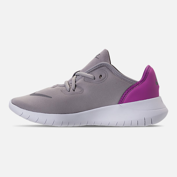 Left view of Girls' Big Kids' Nike Hakata Casual Shoes in Atmosphere Grey/Gunsome/Hyper Magenta