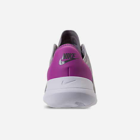 Back view of Girls' Big Kids' Nike Hakata Casual Shoes in Atmosphere Grey/Gunsome/Hyper Magenta